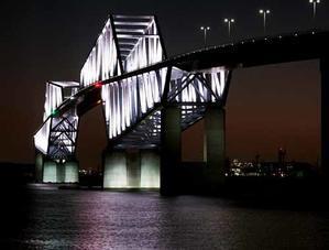 東京ゲートブリッジの夜景(1月20日寫壇太陽撮影会) -
