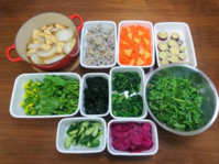 2019/1/20常備菜(お野菜オンリー) - お弁当と春の空