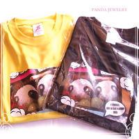 パンダおにぎりTシャツ - ☆ハンドメイドアクセサリー☆