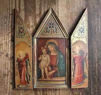 フラ・アンジェリコ 聖母子と音楽を奏でる天使たち 三連祭壇画  /F971 - Glicinia 古道具店