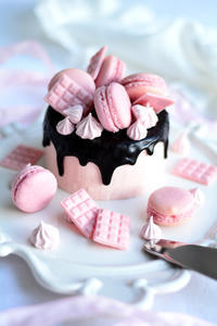 ストロベリークリームのチョコレートドリップケーキレッスンのお知らせ - Misako's Sweets Blog