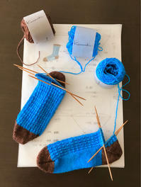 靴下の続き - セーターが編みたい!