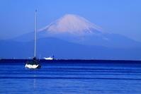 31年1月の富士(15)諸磯のヨットと富士 - 富士への散歩道 ~撮影記~