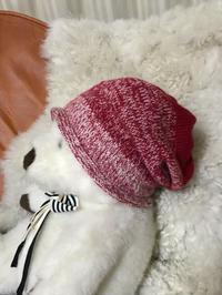 urban帽子 no.2 (赤白グラデーション) 完成♪ - 笑う門には福来たる