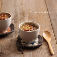オニオングラタンスープ - ふみえ食堂  - a table to be full of happiness -