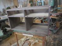 テレビボードの仮組 - 手作り家具工房の記録