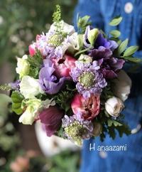 春のブーケと明日のレッスンなど - 暮らしに花を 〜    花あざみ安城  0566‐77-4187