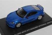 1/64 Kyosho SUBARU BRZ WITH GENUINE OPTIONAL PARTS - 1/87 SCHUCO & 1/64 KYOSHO ミニカーコレクション byまさーる