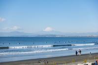 今日の片瀬海岸西浜からの富士山 - エーデルワイスPhoto