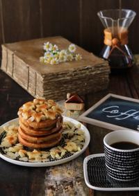 コーヒーパンケーキの朝ごはん - ゆきなそう  猫とガーデニングの日記