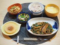 レバニラ炒めの晩ごはん☆ - 365のうちそとごはん*:..。o○☆゚