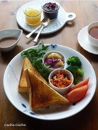 乃が美の「生」食パンと糸島野菜でワンプレート♪ - Cache-Cache+