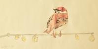 #スズメ『雀』Eurasian tree sparrow  #ネイチャー・ジャーナル - スケッチ感察ノート (Nature journal)