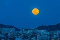 六甲山よりのスーパームーン(21日) - シセンのカナタ