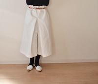 ホワイトのキュロットスカートが完成!!次はネイビー♥ - 親子お揃いコーデ服omusubi-five(オムスビファイブ)