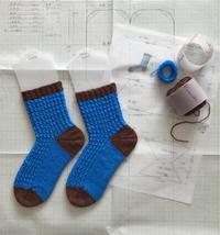 かぶせ目(ノット編み)の靴下 - セーターが編みたい!
