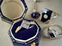 アールデコの雰囲気を持ったダイヤモンドリング - AntiqueJewellery GoodWill
