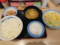 1/24  選べる小鉢の玉子かけごはん ¥290 + 生野菜 ¥110 @ 松屋 - 無駄遣いな日々