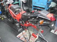 VTRB-Styleの整備状況 - バイクの横輪