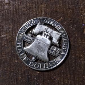 アメリカ50セント銀貨 リバティベル ゴルフマーカー - 銀工房ウォリアーズ  シルバーアクセサリー熊本