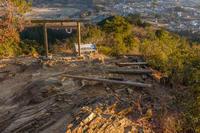 日暮れ時の山の景色 - デジカメ写真集