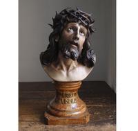 リンピアスの聖なるイエス 胸像   /F985 - Glicinia 古道具店