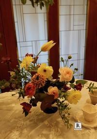 松屋銀座外商・ロイヤルカスタマーズのみなさま と「春の花をいける・フラワーアレンジメントの体験会」 - Bouquets_ryoko