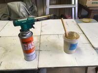棚板の補修・冬バージョン - 週末陶芸家 フジサキウサジ