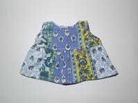 392.メルちゃん青黄ワンピース - フリルの子供服