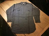 N.O.S. 40's~50's 5Brother half-zip black chambray shirt - BUTTON UP clothing