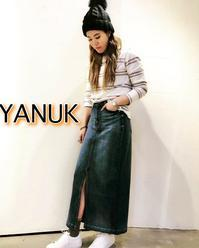 2019SS「YANUK ヤヌーク」デニムスカート入荷です♪ - UNIQUE SECOND BLOG