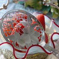 アンティークシルバーの銀器とお花㊲~ストロベリースプーン♪ - アンティークな小物たち ~My Precious Antiques~