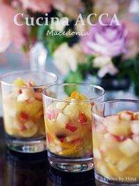 スカイベリーと完熟メロンの「マチェドニア」 - Cucina ACCA