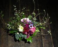 ワインバーのオープンにアレンジメント。平岸2条にお届け。2019/01/23。 - 札幌 花屋 meLL flowers