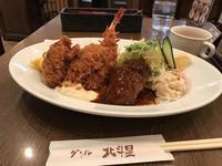 バンビセット & カキフライ2個 @グリル北斗星 - よく飲むオバチャン☆本日のメニュー