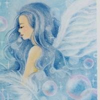 水色の天使 - デザインのアトリエ絵くぼ