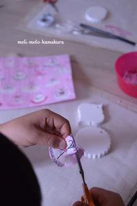 ◆デコパージュ*娘の作品♡バレエのチュチュが可愛いアロマストーン - フランス雑貨とデコパージュ&ギフトラッピング教室 『meli-melo鎌倉』