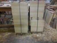 テレビボードの抽斗加工 - 手作り家具工房の記録