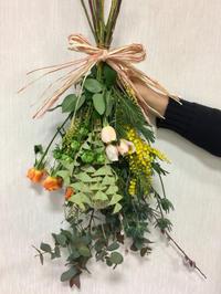 2019年1月のレッスン/春のスワッグ - お花は幸せの贈りもの~Sweet Lees