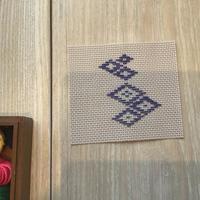 菱刺しの会 1月 - 手編みバッグと南部菱刺し『グルグルと菱』