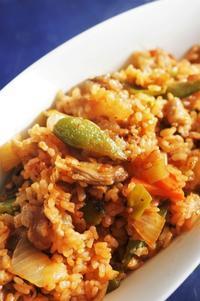 ■昼ご飯【ポークライス】ホットプレートで簡単!!10分♪ - 「料理と趣味の部屋」