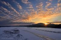みちのく御所湖の朝陽景5 - みちのくの大自然
