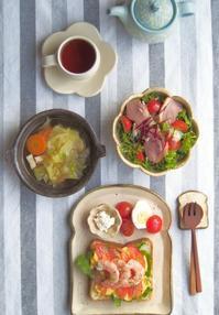 えびトーストの朝ごはん - 陶器通販・益子焼 雑貨手作り陶器のサイトショップ 木のねのブログ