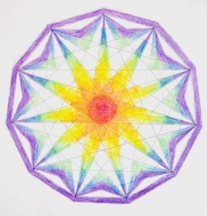 サビアンシンボルの、12星座のマンダラ塗り絵。 - 色彩サビアン占星術