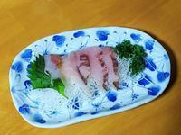 青森県で捕れたソイのお刺身 - 「 ボ ♪ ボ ♪ 僕らは釣れない中年団 ♪ 」