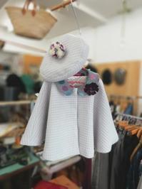 size 110㎝ ケープコートとお揃いのベレー帽 - warmheart*洋服のサイズ直し・リフォーム*