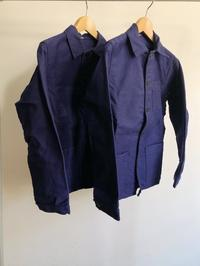 50's〜60's Ink Blue Molskin Coverall Mint Condition!! From France - DIGUPPER BLOG