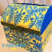 『トイレットペーパーケース』 - カルトナージュ教室 ~ La fraise blanche ~