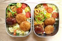 トルコライス風お弁当と - オヤコベントウ