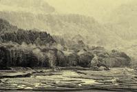モノクロ風景妙高乙見湖3 - 光 塗人 の デジタル フォト グラフィック アート (DIGITAL PHOTOGRAPHIC ARTWORKS)